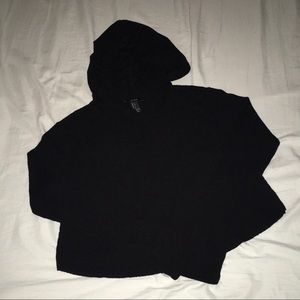 2 for $15. Forever 21 Black Hooded Cropped Sweater